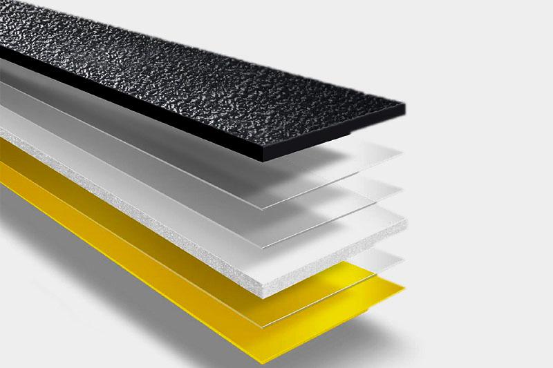 Materialaufbau Logis AS Soft – aus Schaumstoff